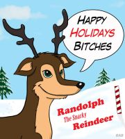 Randolph The Snarky Reindeer by The-Moocat