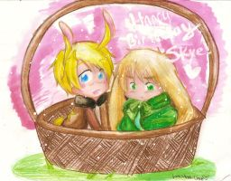 APH: USUK Bunnies by Monii--Chan
