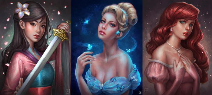 Disney Princesses [Batch 1] by serafleur