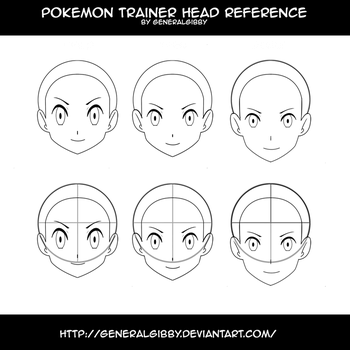 Pokemon Trainer Head Reference by GeneralGibby