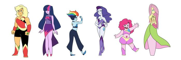 My Little Crystal Gems by kilalaaa