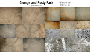 Grunge and Rusty Pack - 18 Textures by manuelvelizan