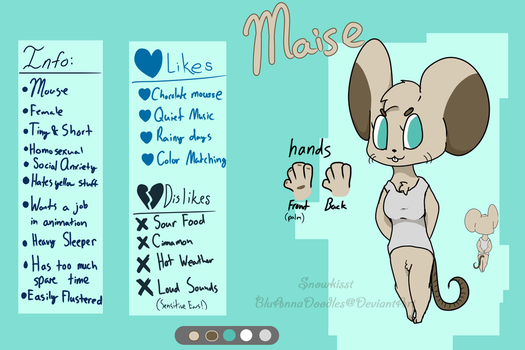 Maise's Redesign (+ Ref Sheet!) by BluAnnaDoodles
