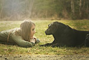Girl and her Dog by keener92