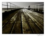 whitby pier- topside by vcrimson-photography