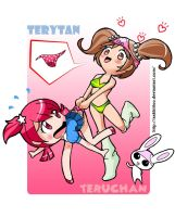 Teruchan and Terytan by aakkittoo