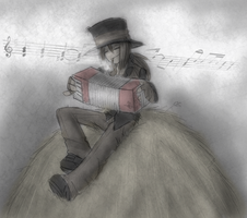 Accordion player by Inverted-Mind-Inc