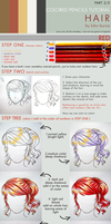 Colored pencils tutorial HAIR part 2 - RED by kiko-burza