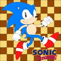 Classic Sonic the Hedgehog by NiGHTSfanKevin