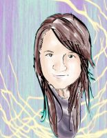 self portrait colored by V-Babe007