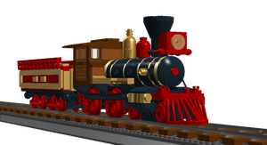American steam train 2-2-0 by 10Avoid