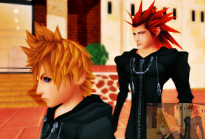 {MMD} Roxas and Axel screenshot by sophloulou