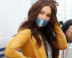 Megan fox april gagged by gaggeddude32