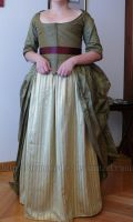 WIP- 18th century robe a l'anglaise retroussee 19 by Arumorahe