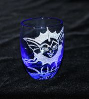 Vaporeon Blue Shot Glass by PokeEtch