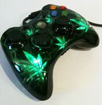 XBOX 360 cannabis design controller by chrisfurguson