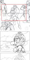in-game illustration process by mrvo