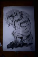 Angry werewolf... :D by Rose-Kira