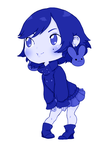 Chibi Line art by bunu blue by Minji-chan