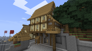 'You can find it next to the tavern.' (Minecraft) by Nosh0r