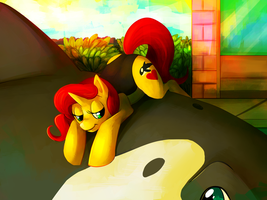 The pony and the whale by sifyro