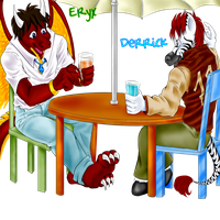 Commission - Eryx and Derrick by Reenave