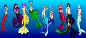 Merpeople by FeatheredDragon