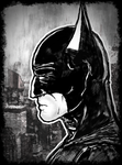 Batman Sideview Portrait by Kiwii3364