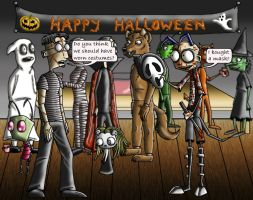 Halloween costume party. by manicsfan