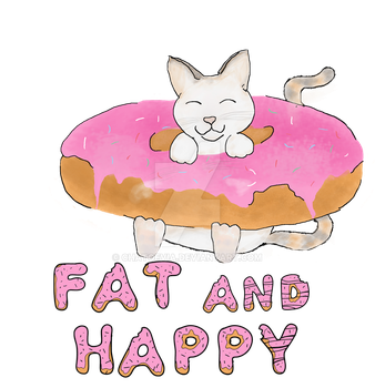 A Fat Cat is a happy Cat. by Chatoevia