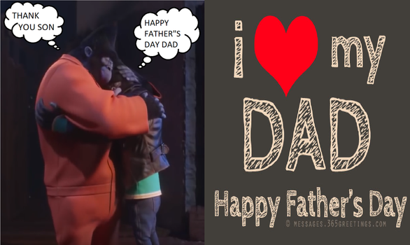 Johnny and Big Daddy Father's Day by Baloorule58
