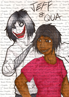 GIFT Jeff the Killer and Qua GIFT by I3-byUsagi