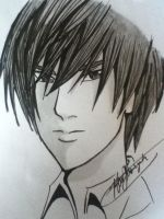 ( another xD ) Light Yagami Sketch by Roberto-210296