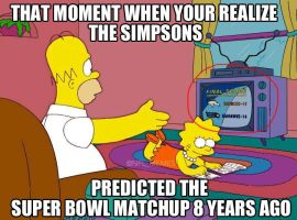 Superbowl 48 Simpsons Meme by RoninHunt0987