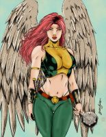 Hawkgirl Colored by ikbarron