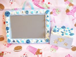 Blue Sweets Deco Frame and Box by lessthan3chrissy