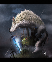 DarkSouls - Sif, The Great Grey Wolf by KxG-WitcheR
