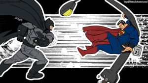 Batman V Superman: Dawn of Justice Fight by femshepfan2013
