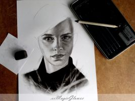 Emma Watson - work in progress by xxMagicGlowxx