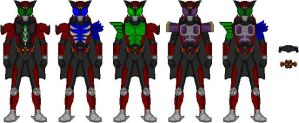 Kamen Rider Dark Kiva forms by Jyger85