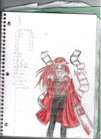 Grell in my homework by GreenieCake