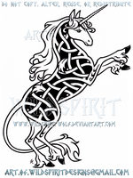 Last Unicorn Knotwork Design by WildSpiritWolf