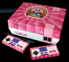 custom Kirby 20th anniversary NES by Zoki64