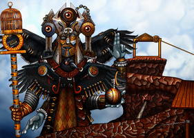 The Knobbly Crook - The Blackfeather Pope by RingmasterBent
