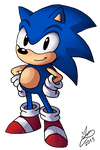 Classic Sonic by Ian-the-Hedgehog