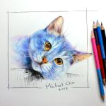 This is a blue cat by Michael-Chiu-2013