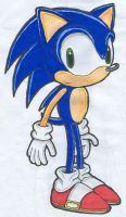 Sonic the Hedgehog coloured by Kimmy-the-Echidna