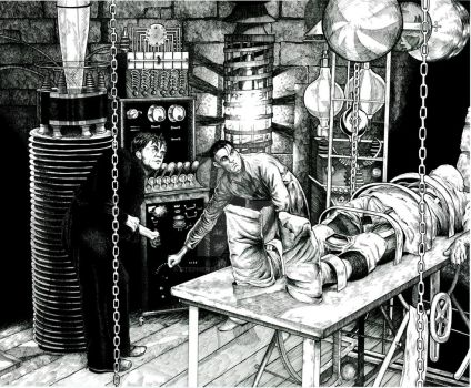 Frankenstein's Laboratory by stephenburger