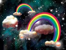 Celestial Vintage Rainbows by comotized