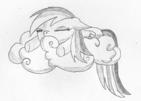 Raindow Dash sleeping - so cute by norgas